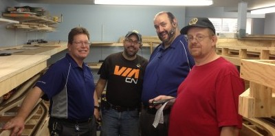 The first ops session crew - from Left to Right: Murray, Jason, Dave, and Cam